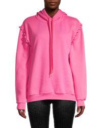 Chloé Long-sleeve Cotton Hoodie - Pink