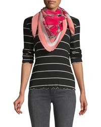 Boutique Moschino Printed Silk Scarf - Pink