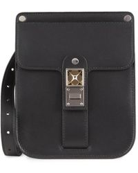 Proenza Schouler Ps11 Smooth Leather Box Bag - Optic White - Black