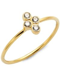 Legend Amrapali Tarakini 18k Gold & Diamond Ring - Metallic