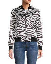 Alice + Olivia Women's Reversible Printed Jacket - Black White - Size S
