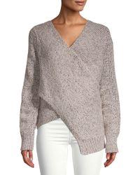 10 Crosby Derek Lam - Wool-blend Crossover Sweater - Lyst