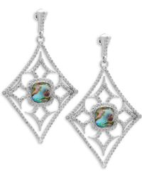 Armenta - New World Diamond & Gemstone Triplet Drop Earrings - Lyst