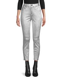 10 Crosby Derek Lam Metallic Leather Trousers