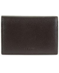 Bally Tobel Leather Folding Card Holder - Brown