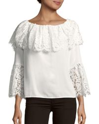Vince Camuto - Lace-trim Off-the-shoulder Top - Lyst