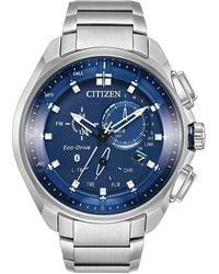 Citizen Men's Eco-drive Chronograph Proximity Stainless Steel Bracelet Watch 46mm - Metallic