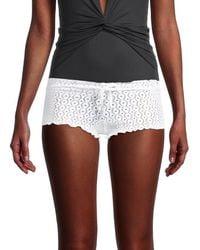 Melissa Odabash Lyon Crochet Shorts - White