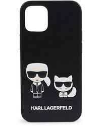 Karl Lagerfeld Iphone 12 Mini Faux Leather Case - Multicolour