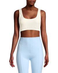Lisa Marie Fernandez Women's Sleeveless Cropped Top - Cream - Size S - Multicolour