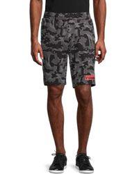 PUMA Men's Core Camo-print Cotton Shorts - Black - Size M
