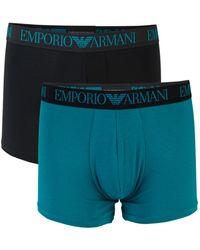 Emporio Armani 2-pack Logo Boxer Briefs - Multicolour