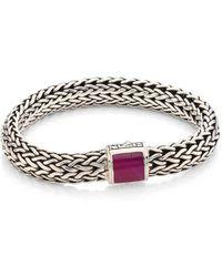John Hardy - Batu Classic Chain Medium Ruby & Sterling Silver Bracelet - Lyst