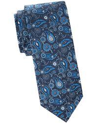 Saks Fifth Avenue Textured Silk Tie - Blue