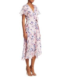 Tanya Taylor Blaire Floral Wrap Midi Dress - Multicolor