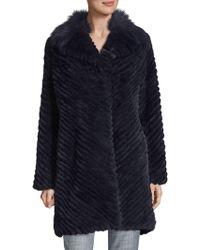 Badgley Mischka   Adele Fur Coat   Lyst