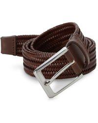 Saks Fifth Avenue - Basket Weave Leather Belt - Lyst