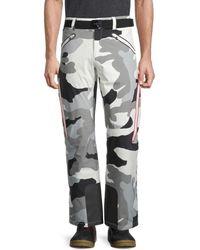 Bogner Men's Tim-t Camo Ski Pants - Off White - Size 40 - Multicolor