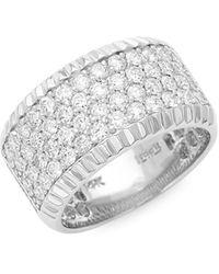 Effy 14k White Gold & Diamond Band Ring - Multicolor