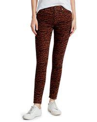 AG Jeans Farrah Print Corduroy Skinny Jeans - Multicolour