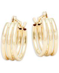Saks Fifth Avenue Mini 14k Gold Triple Hoop Earrings - Metallic