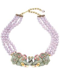 Heidi Daus Women's Goldtone, Multicolour Crystal & Enamel Beaded Pendant Necklace - Metallic