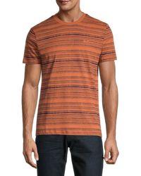 Ben Sherman Men's Autumn Stripe T-shirt - Autumn Leaves - Size S - Orange