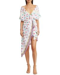 All Things Mochi Women's Camila Embroidered Side-tie Dress - White - Size Xs