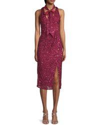 Parker Sia Sequin Sheath Dress - Pink