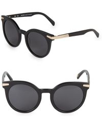 328918e35c Balmain - 51mm Round Cat-eye Sunglasses - Lyst