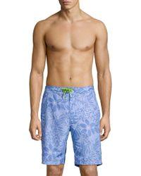 Tommy Bahama Printed Swim Shorts - Blue
