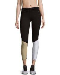 Body Language Paneled Pull-on Leggings - Black