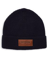 True Religion - Logo Ribbed Watchcap - Lyst