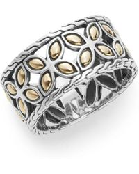 John Hardy - Kawung 18k Yellow Gold & Sterling Silver Ring - Lyst