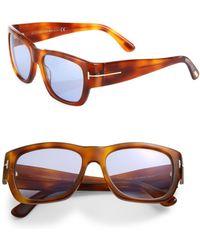 691190f748 Tom Ford - Stephen 54mm Soft Square Sunglasses - Lyst