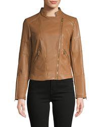 Calvin Klein Asymmetrical Zip Moto Jacket - Multicolour