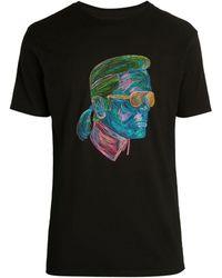 Karl Lagerfeld Neon Skull T-shirt - White