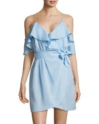 6 Shore Road By Pooja - Cold-shoulder Ruffle Tie Dress - Lyst