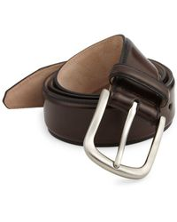 Saks Fifth Avenue - Cordovan Leather Belt - Lyst