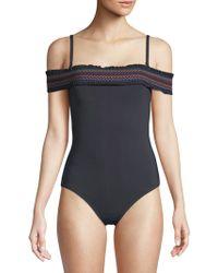 Bleu Rod Beattie - One-piece Off-the-shoulder Bandeau Swimsuit - Lyst