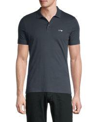 Armani Jeans Men's Short-sleeve Stretch-cotton Polo - Solid Dark - Size L - Blue