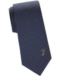 Versace - Silk Diagonal Stripe Tie - Lyst