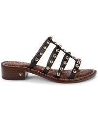 Sam Edelman - Women's Juniper Studded Leather Gladiator Sandals - Black - Size 6.5 - Lyst