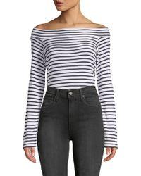 Splendid - Striped Off-the-shoulder Bodysuit - Lyst