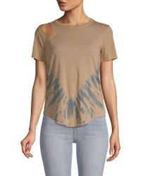 Chaser - Tie-dyed Cut-out Top - Lyst