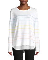 Calvin Klein Multi-striped Layered Sweater - White