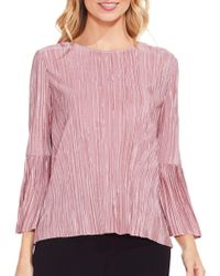 Vince Camuto - Pleated Knit Top - Lyst