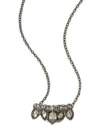Alexis Bittar - Miss Havisham Pavé Crystal Mini Jagged Marquis Pendant Necklace - Lyst