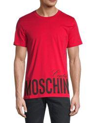 Moschino ! Logo Graphic T-shirt - Red