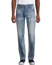 DIESEL Men's Regular Straight-fit Faded Jeans - Denim - Size 31 - Blue